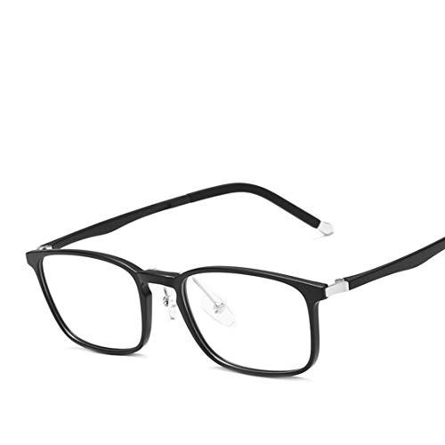 Jakiload Anti-Blaulicht-Brillen-Silikon-Nasenpads, leichte Business-Computer-Schutzbrillen für Damen und Herren (Color : Matte Black)