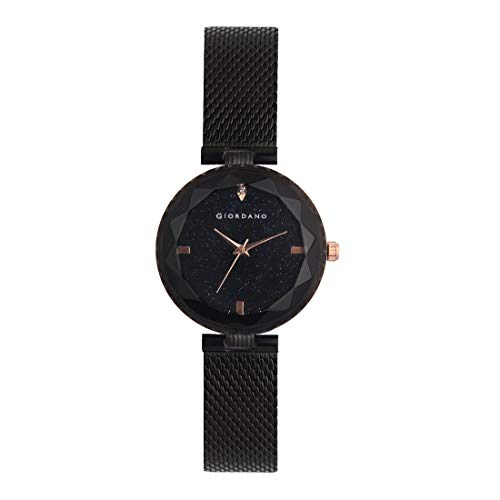Giordano Analog Black Dial Women's Watch-C2177-11