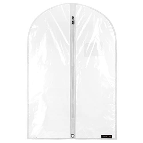 HANGERWORLD Wasserabweisender Kleidersack 76cm Transparent Kleiderhülle Baby- und Kinderkleidung - Ziehen Untere Lagerung