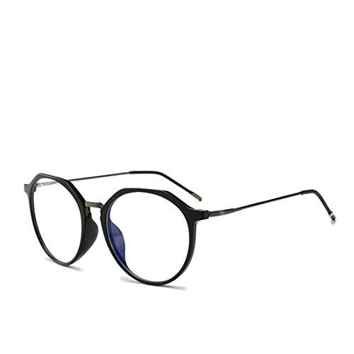 Mkulxina Neue übergroße Brillenfassung mit Anti-Blue-Light-Brille für Männer und Frauen ohne Verschreibungspflicht (Color : Black)