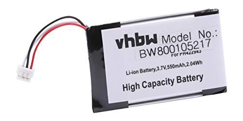 vhbw Li-Polymer Akku 500mAh (3.7V) für schnurlos Telefon Grundig D780, D780A, Philips S9A, S9A/34, S9A/38, S9H wie PH422943, SL-422943.