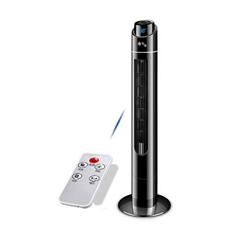 Preisvergleich Produktbild FFF-VENTILATOR Elektrolüfter Turm Fans Kühlung mit Fernbedienung Weiß Sockel Haushalt Stumm für Wohnzimmer Schlafzimmer Büro (Schwarz) Schütteln Den Kopf
