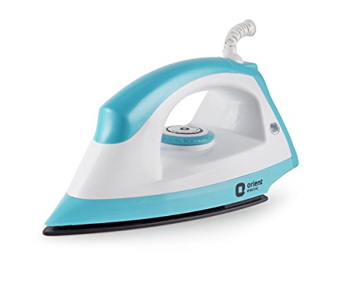 Orient Electric Fabrijoy DIFJ10BP 1000-Watt Dry Iron (White and Blue)
