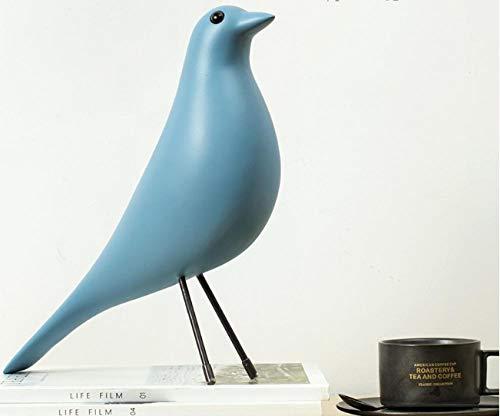 lilizhang Schmuck Heimtextilien Tierdekorationen Geschenk Handwerk Musiknoten Kleine Ornamente, Skulptur Büro@Eames Vogel - blau -