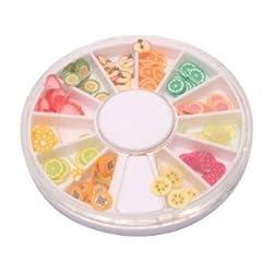 144 Fruit : DGI MART Nailart Tools 144pcs 3D FIMO Slice Fresh Fruit Face Decoration