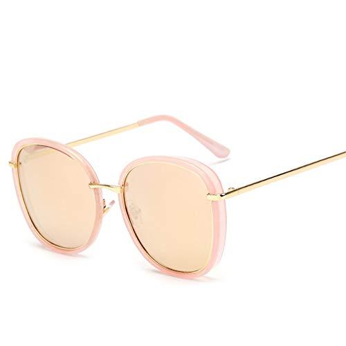 Wenkang Rosa Sonnenbrille Frauen quadratischen Rahmen Vintage Runde Metall Brille Spiegel Brillen uv400 oval schwarz,C8