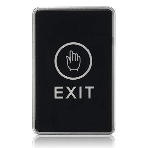 Berührungssensor-Ausgangstaste drücken Sicherheit Zugangskontrollsystem Türausgangstaste mit LED-Anzeigelampe für das Home Office - Schwarz Blue Exit-taste