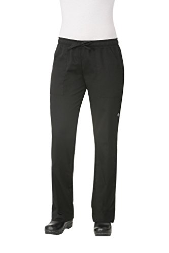 Chef Works WBLK-000-XS Ladies Executive Chef Trousers, X-Small, Black