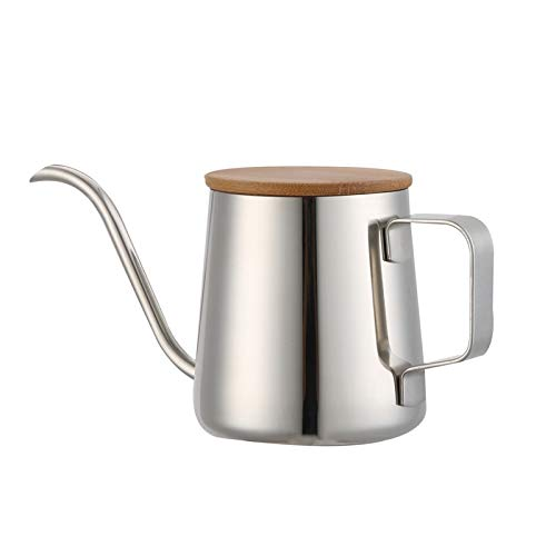 Long Narrow Coffee Pot Small Fine Stainless Pour Over Drip Coffee Pot Gooseneck Tea Kettle Use for Cafe Tea Shop Western Restaurant