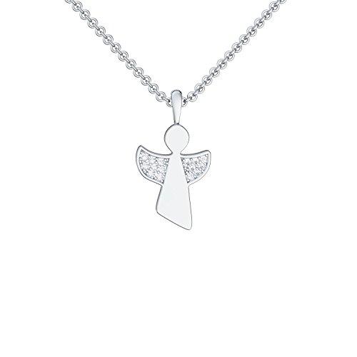 ❤️ Engel-Kette Silber 925 ❤️ Taufgeschenk für Mädchen Geschenk zur Taufe Schutzengel-Kette Engel-Anhänger Taufe Geschenk Taufkette Kinderkette Konfirmation Geschenk Halskette FF94SS925ZIFA45-0