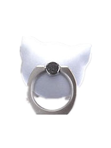 TBOP PHONE RING BUCKLE THE BEST OF PLANET SIMPLE & STYLISH Cat metal ring buckle bracket cute cartoon tide female couple versatile drop-slip non-slip paste in silver color