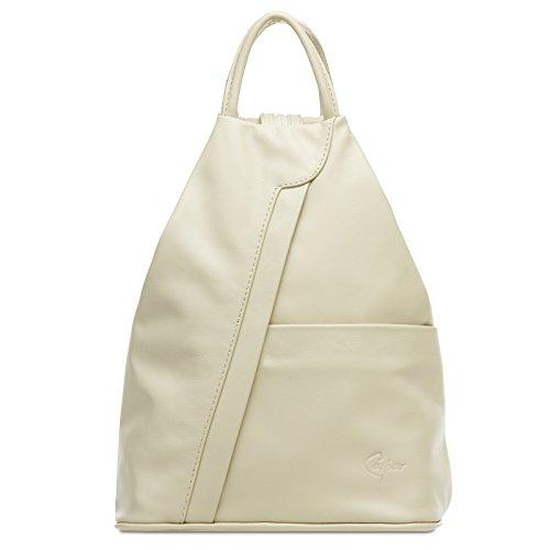 CASPAR TL782 2 in 1 echt Leder Rucksack Handtasche Schultertasche Daypack, Farbe:dunkelblau;Größe:One Size