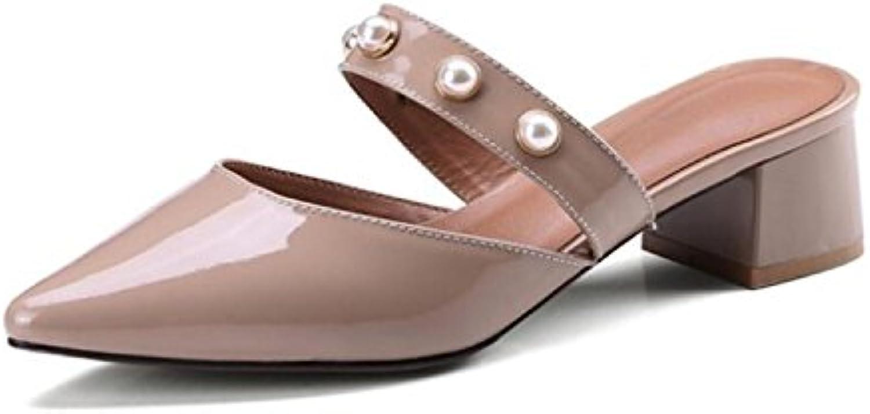 DANDANJIE Pantofole da Donna Punta Punta Punta a Punta Sandali con Tacco a Spillo Slip Scarpe Traspiranti Pantofole da Esterno... | Garanzia autentica  | Sig/Sig Ra Scarpa  792f8b