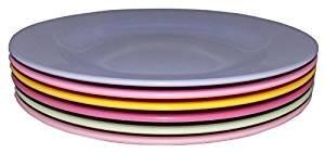Preisvergleich Produktbild Melamin-Teller klein Girly Colors, 6er-Set