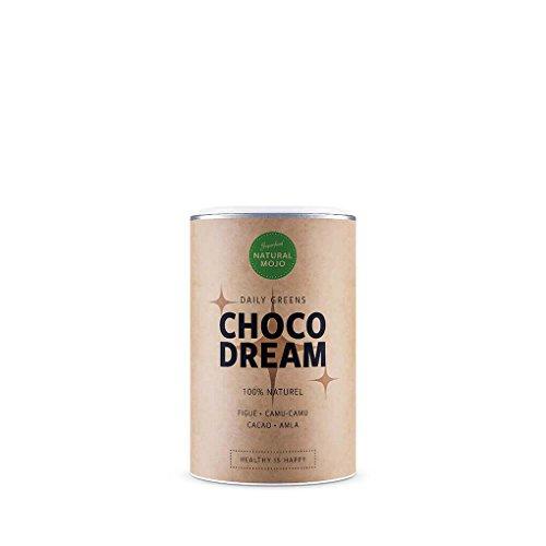 Natural Mojo Choco Dream – super cacao (150 g) – chocolat en poudre aux super-ingrédients pour stimuler le moral – boisson chocolatée végane, sans gluten ni suc