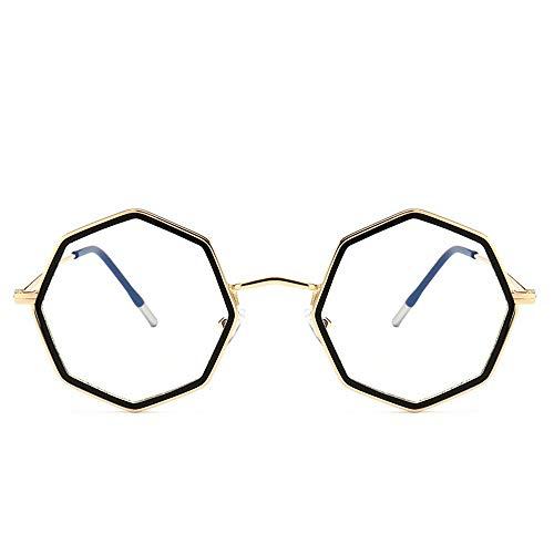 Polarisierte Sonnenbrille mit UV-Schutz Persönlichkeit Polygon Optische Gläser Ultra Light Brillengestell für Damen / Herren. Superleichtes Rahmen-Fischen, das Golf fährt ( Farbe : Gold/black circle )