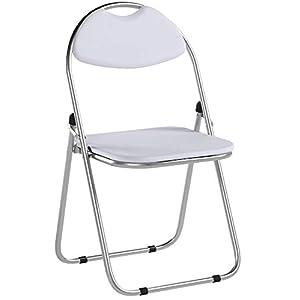 Klappstuhl – gepolstert – Weiß – 2 Stück
