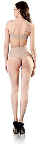 Esbelt Womens High Compression Shaper Thong Shapewear for Tummy & Bottom Control