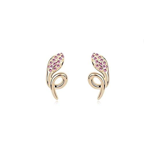Erica En forme de cristal mousseux autrichien animal Boucles d'oreilles pour Femmes Filles olive