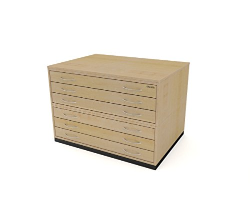 Traditional A1 6 Drawer Plan Chest MAPLE paper storage for sale  Delivered anywhere in UK
