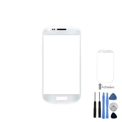 BisLinks® Weiß Front Bildschirm Objektiv Glas für Samsung Galaxy S3Mini i8190+ Werkzeuge, Klebstoff