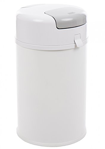 Preisvergleich Produktbild Fillikid Windeleimer X-Large Exklusiv | Windeltwister geruchlos | extra gross 35 L | Metall weiß mit Abdichtung | für normale Müllbeutel | keine teuren Nachfüllkassetten