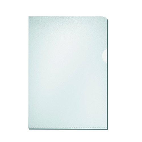 Falken Economy PP-Kunststoff Aktenhüllen für DIN A4 transparent genarbt farblos oben und seitlich offen 100er Pack Sichthülle Plastikhülle Klarsichthülle ideal fürs Büro und die mobile Organisation