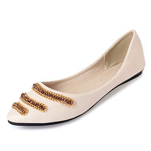 StarWin Women's Flats Klassische, weiche Sohle, Spitze Zehen, Slip-on-Ballett, rutschfeste, Bequeme, fahrbare Slipper, Basic-Schuhe - Knöchel Gurt Leder Mary Janes