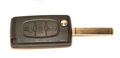 KLEMAX Coque de clé Adaptable pour Peugeot 107, Peugeot 207, Peugeot 307, Peugeot 308 référence: PSA307C