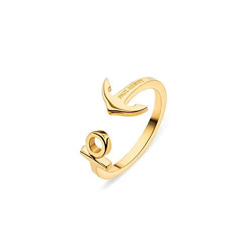 PAUL HEWITT Damenring Gold ANCUFF - Damen Edelstahl Ring (vergoldet), Fingerring für Frauen