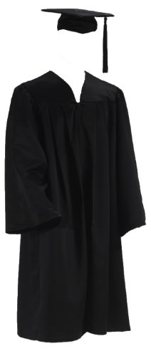 Doktorhut Doktor Talar Cap Robe College Abschluß Uni (XX-Large)