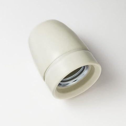 Lightstyl - Casquillo de porcelana blanco E27 - DECL-119 - Iluminación de tendencia retro