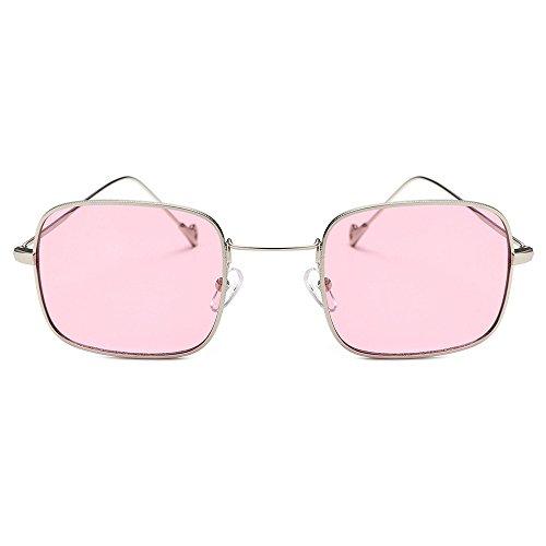 Honestyi Damenmode Quadrate Shades Sonnenbrille Integrierte UV Bonbonfarbene Brille BZ672 Frauen Kniebeugen Fashion Square Sonnenbrillen