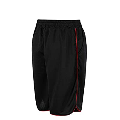 QRANSS Men's Running Shorts Breathable Mesh Sports Shorts Workout Training with Zip Pockets