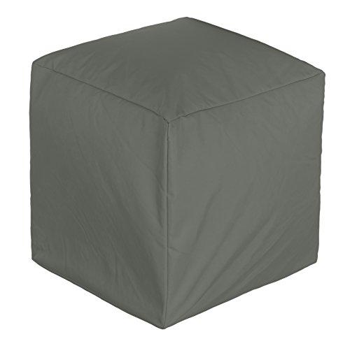 BRANDSSELLER Outdoor Cube Sitzwürfel Sitzsack Sitzhocker Sessel - für den Wohn- und Gartenbereich - 45x45x45 cm - Anthrazit