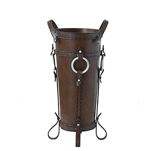 Linrxl portaombrelli classica industriale occidentale cowboy home bar cafe decoration bagagli secchio, marrone, 25x50cm