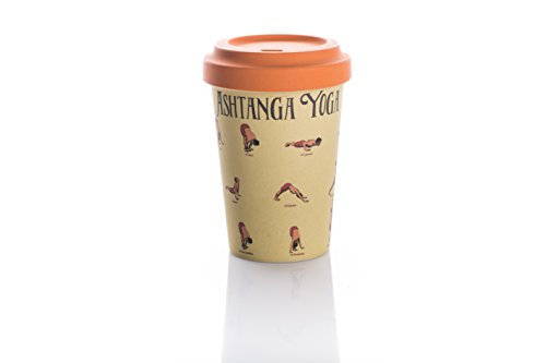 Coffe to go Becher Bamboo Cup (Yoga Moves) thumbnail