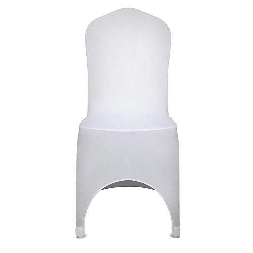 Buoqua 50pcs Stuhlabdeckung herausnehmbar 50 stück stuhlhussen hochzeit Chair Cover wedding für Hochzeits Bankett Party