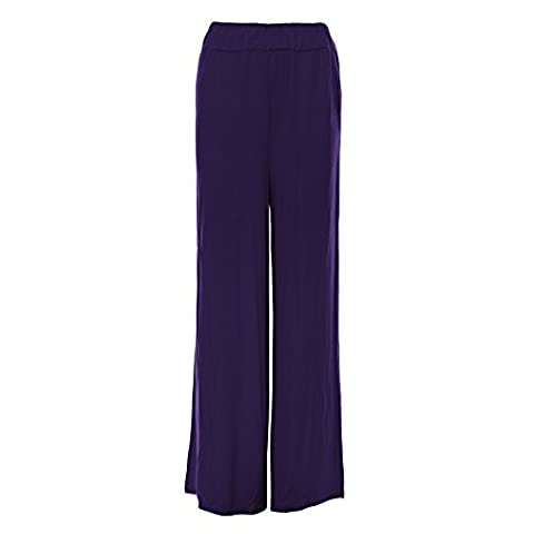 Oops Outlet -pantalons femmes Baggy Palazzo leggings taille grande - taille grande 52/54, violet - Girls Fashion Stylish Casual