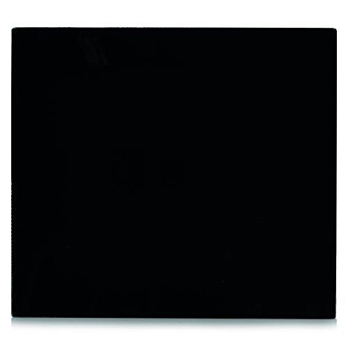 Zeller 26284 Herdblende-/Abdeckplatte, Glas, schwarz