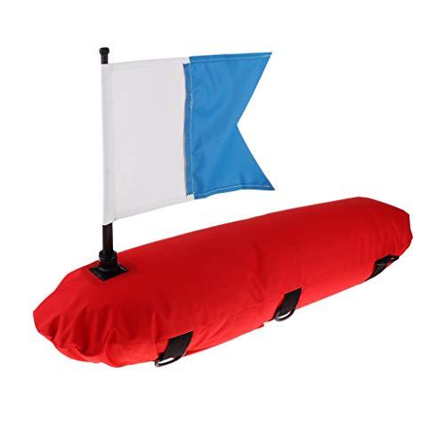 perfeclan Bouée Drapeau de Signalisation Gonflable Revêtement PU Bouée de Plongée sous-Marine, Longueur 80 cm