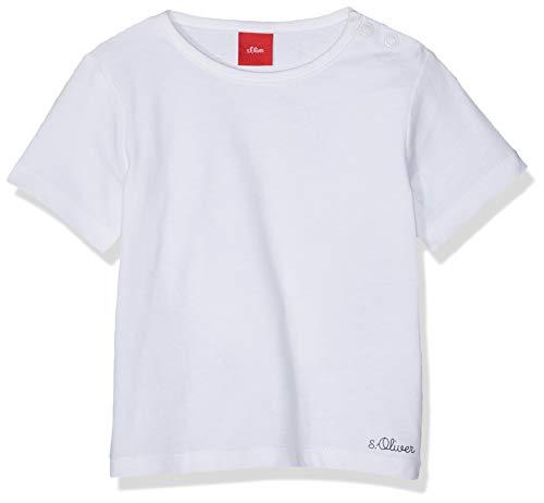 s.Oliver Junior Unisex Baby 56.899.32.0741 T-Shirt, Weiß (White 0100), (Herstellergröße:62)