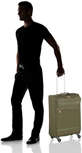 31kwp67G0iL - American Tourister Herolite Lifestyle Spinner, Equipaje de Mano, M (67cm-68L), Verde (Khaki)
