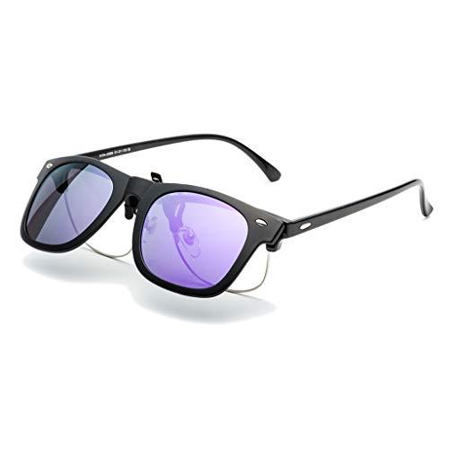 LDY Sonnenbrillen für Männer, Frauen Flieger Polarisierte Metallspiegel UV 400