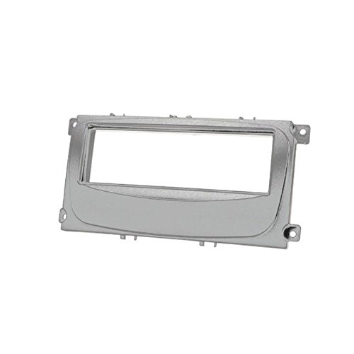 carav 11-415 DIN Autoradio Radioblende DVD Dash Installation Kit (Silber) Faszie mit 182 * 53 mm Aftermarket Dash Kits