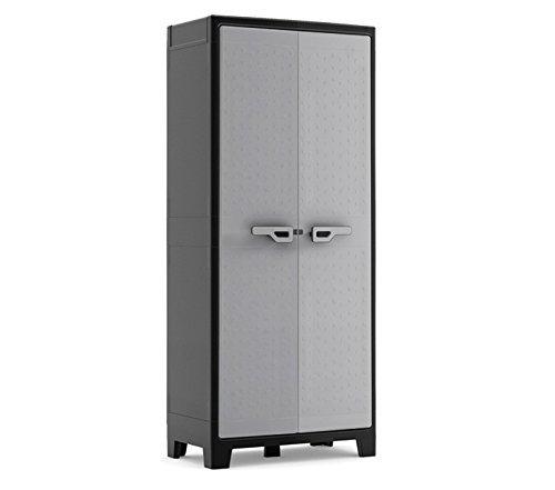 Kis 9760000 0270 titan armadio alto in plastica, colore nero/grigio