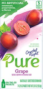 Crystal Light On The Go Pure Grape, 7-Count Boxes (Pack of 4) by Crystal Light -