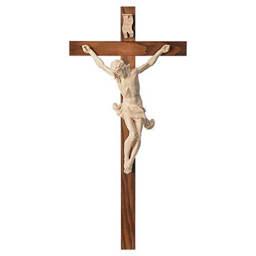 Holyart Rechten Kruzifix Mod. Corpus Grödnertal Wachsholz, 42 cm (16.54 inc.)