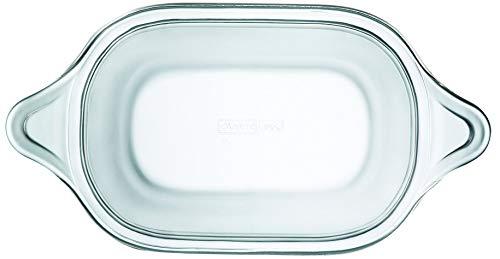 Lock&Lock LLG580 - Fuente Rectangular para Horno, Vidrio de borosilicato, 700ml