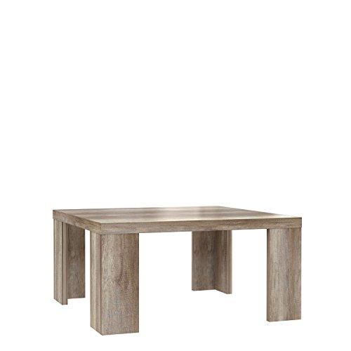 NEWFACE  Couchtisch, Holz, Eiche Antik Dekor, 70 x 70 x 35 cm -